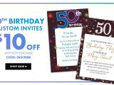 Party City Custom Invites Milestone Birthday Banners top themes Party City