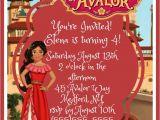 Party City Elena Of Avalor Invitations Elena Of Avalor Birthday Invitation Digital