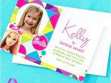 Party City Girl Birthday Invitations Custom Barbie Invitation Thank You Idea Party City