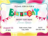 Party Invitation Card Template Word Birthday Party Invitation Cards for Ms Word formal Word