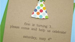 Party Invitation Cards Handmade 1st Birthday Invitations Handmade Polka Dot Recycled