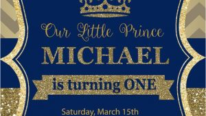Party Invitation Cards Royal Prince Birthday Party Invitation First Birthday Royal
