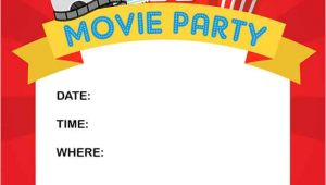 Party Invitation Movie Template How to Throw A Fun Backyard Movie Party