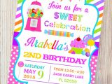 Party Invitation Stores Candyland Printable Invitationcandy Shop Birthday Invitation