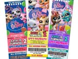 Party Invitation Stores Littlest Pet Shop Birthday Party Invitation Ticket 1st A1