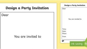 Party Invitation Template Eyfs Party Invitation Templates Party Invitation Templates