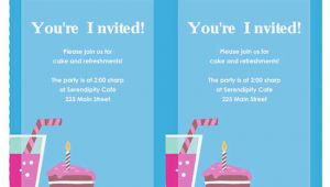 Party Invitation Template for Word 6 Free Party Invitation Templates Excel Pdf formats