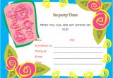 Party Invitation Template Free Word 40th Birthday Ideas Birthday Invitation Templates for
