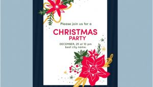 Party Invitation Template Jpg Christmas Party Invitation Template Vector Free Download