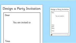 Party Invitation Template Ks1 Party Invitation Template Ks1