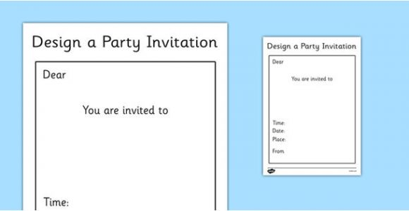 Party Invitation Template Ks1 Party Invitation Template Ks1