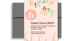 Party Invitation Template Microsoft Word Cute Pink Girl Microsoft Word Birthday Invitation 5×7 In