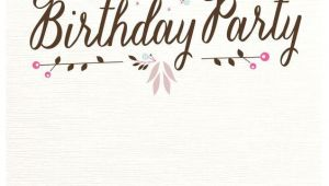 Party Invitation Template with Photo Flat Floral Free Printable Birthday Invitation Template