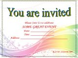 Party Invitation Template Word Blank Invitation Templates songwol Eeca96403f96