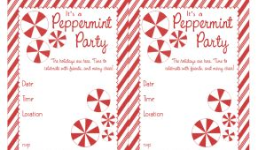 Party Invitation Template Worksheet Bnute Productions Free Printable Peppermint Party Invitations