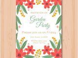 Party Invitation Templates Free Vector Download Beautiful Garden Party Invitation Template Vector Free