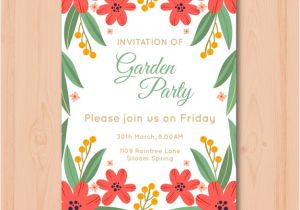 Party Invitation Templates Free Vector Download Beautiful Garden Party Invitation Template Vector Free