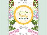 Party Invitation Templates Free Vector Download Garden Party Invitation Template Vector Free Download