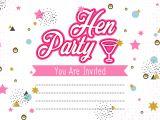 Party Invitation Templates Free Vector Download Hen Party Invitation Template Illustration Download Free