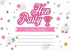 Party Invitation Templates Free Vector Download Hen Party Invitation Template Illustration Download Free