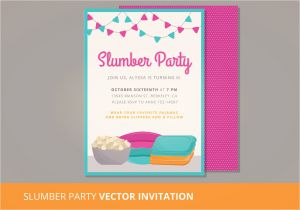 Party Invitation Templates Free Vector Download Slumber Party Vector Invitation Download Free Vector Art