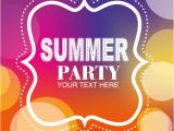 Party Invitation Templates Free Vector Download Summer Party Poster Invitation Template Vector Free Download