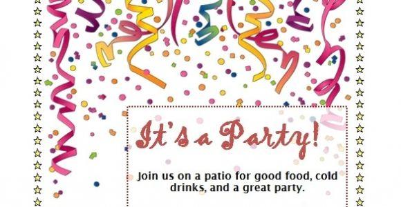 Party Invitation Templates Free Word Birthday Party Invitation Template Word Beepmunk