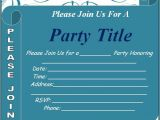 Party Invitation Templates Free Word Free Party Invitation Template Download Page
