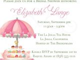 Party Invitation Wording Food Baby Shower Invitations English Baby Shower Tea Party