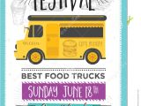 Party Invitation Wording Food Food Truck Party Invitation Food Menu Template Design