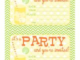 Party Invitations to Print for Free Bnute Productions Free Printable Citrus Splash Invitations
