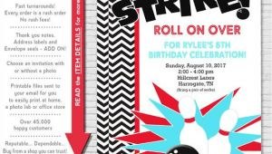 Party Invite Template Bowling Bowling Party Invitation Bowling Birthday Invitation
