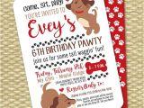 Party Pups Invitations Puppy Party Invitation Puppy Birthday Invitation Kids