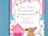 Party Pups Invitations Puppy Party Invitations for Girls Puppy Adoption Party
