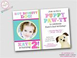 Party Pups Invitations Puppy Paw Ty Dog theme Birthday Party Invitation Party
