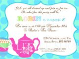 Party Rhymes Invitations Tea Party Invitation Wording Tea Party Invitation Wording