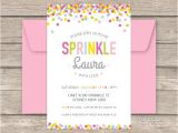 Party Sprinkles Invitations Baby Sprinkle Party Printable Baby Shower Invitation My