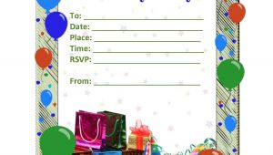 Party theme Invitation Templates Free Birthday Party Invitation Templates