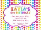 Party theme Invitation Templates Rainbow Birthday Party Invitation $12 00 Via Etsy