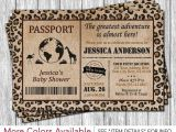 Passport Baby Shower Invitations Best 25 Safari Invitations Ideas On Pinterest