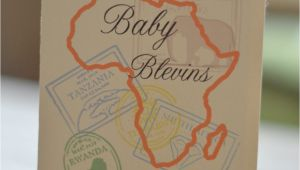 Passport Baby Shower Invitations Items Similar to Baby Shower Safari Passport Invitation On