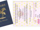 Passport Baby Shower Invitations Passport 28 Baby Shower or Birth Announcement Custom