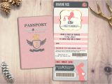Passport Baby Shower Invitations Passport and Ticket Baby Shower Invitation Coed Baby