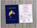 Passport Baby Shower Invitations Printable Baby Shower Passport 5×7 Instant