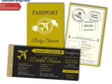Passport Bridal Shower Invitations Bridal Shower Boarding Passport and Boarding Pass