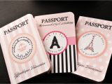 Passport Bridal Shower Invitations Pin Paris themed Passport Invitations for Birthday Party