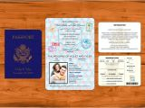 Passport Wedding Invitation Template Passport Wedding Invitation Template Wedding and Bridal