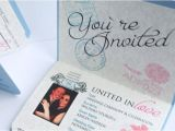 Passport Wedding Invitation Template Passport Wedding Invitations Template Free Download