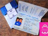 Passport Wedding Invitation Template Philippines Passport Invitation Blue and Silver Inkpressive