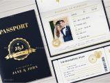 Passport Wedding Invitation Template Philippines Passport Wedding Invitation by Vector Vactory Graphicriver